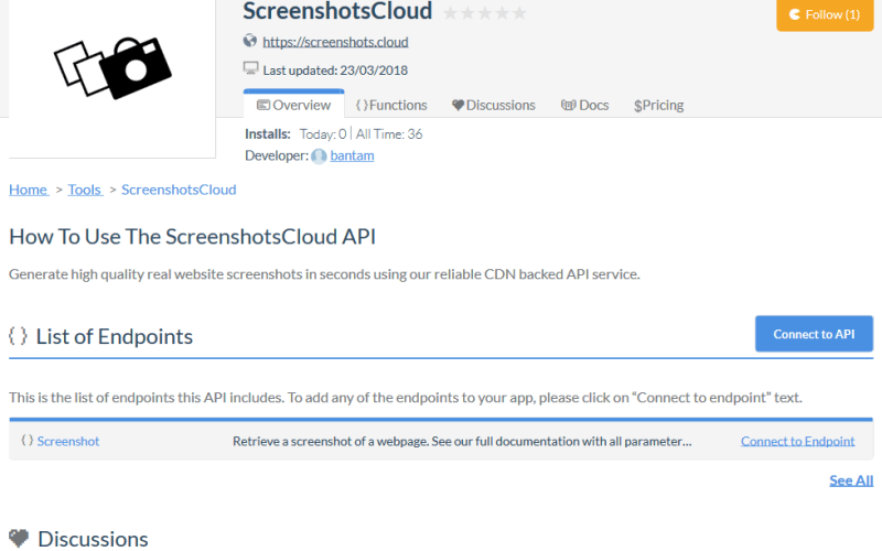 ScreenshotsCloud API