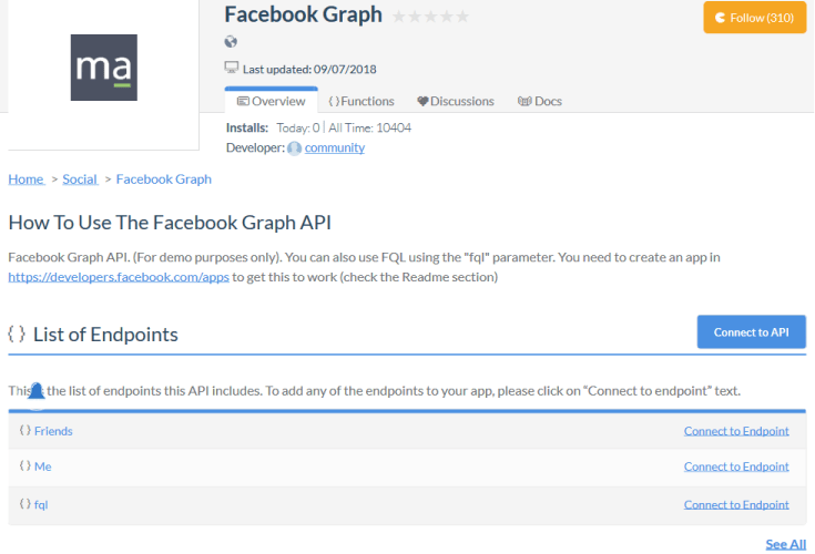 Facebook Graph Webhooks API