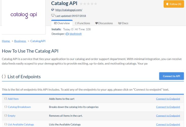 Catalog API