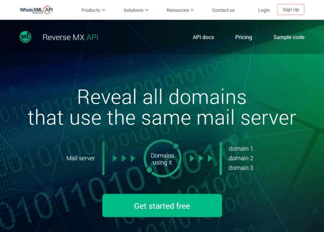 Whoisxml Reverse Mx API