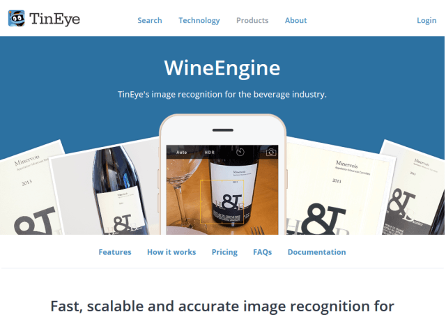 Tineye Wineengine API