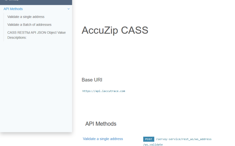 AccuZIP CASS API