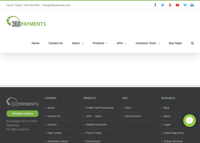 360 Payments Velox Point Sale API
