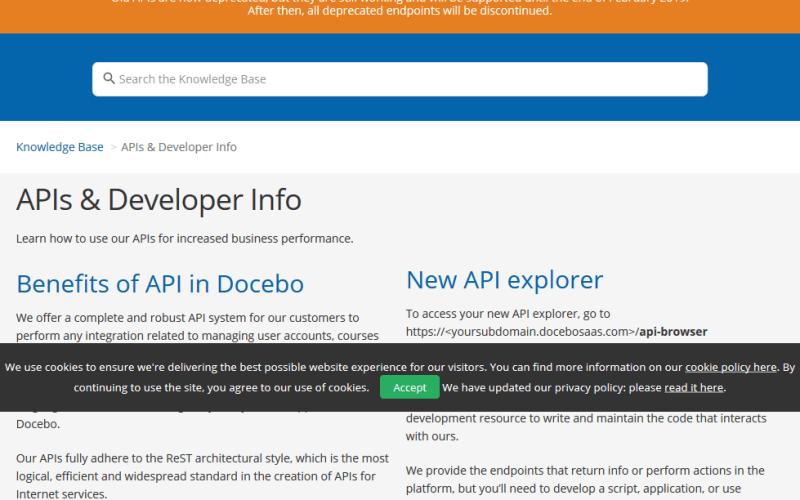 Docebo LMS API