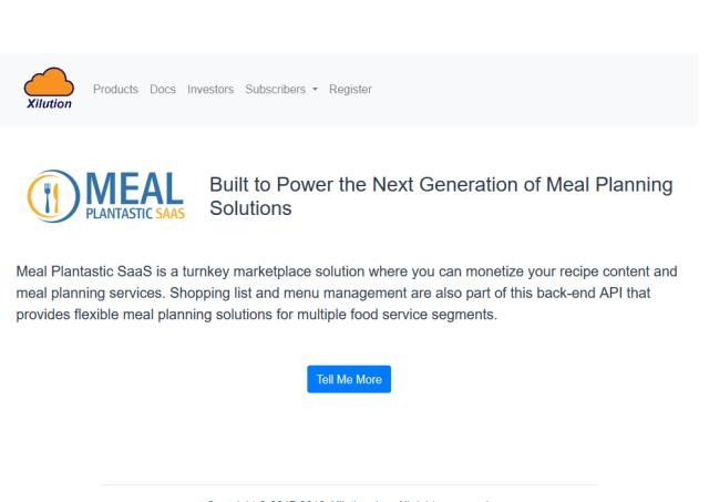 Meal Plantastic API