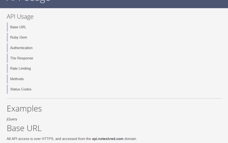 NoteShred API