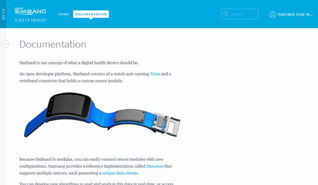 Samsung Simband API