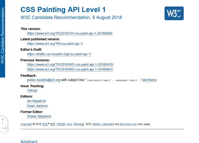W3C Css Painting API