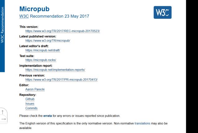 W3C Micropub API