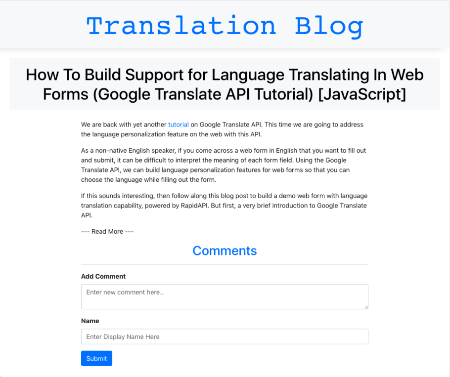 Build A Translation App With The Microsoft Text Translation Api Javascript Tutorial Slacker News