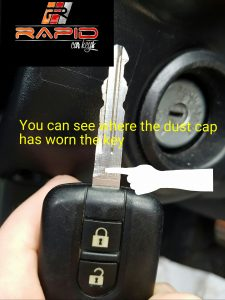Nissan key stuck in ignition 2