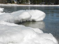 Edge of ice shelf