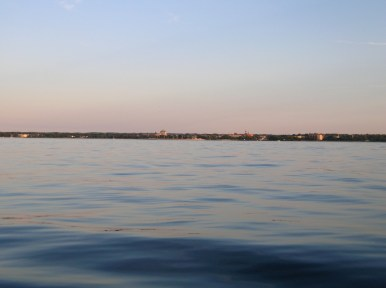 Traverse City in the distance