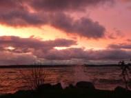 Splash! I take photos as the sky blushes