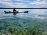 Tony over shallow water