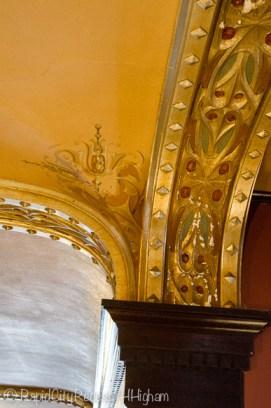 Laurium Manor Inn entryway ceiling
