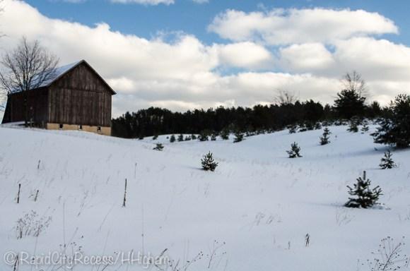 Morrison barn in snow