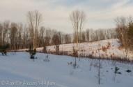 Layered hillside