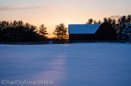 Stone Gate Farm - Red Barn - sunset-1