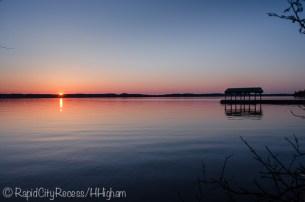 Torch boathouse sunset