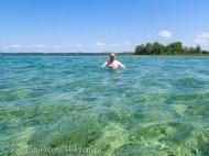 Tony swimming