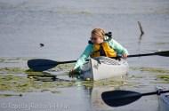 Blondie kayaking