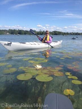 Jerri kayaking