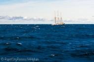 tallship on rough water