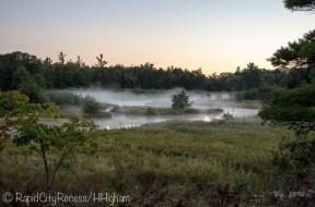 Platte River under fog