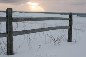 fence and sunbeams