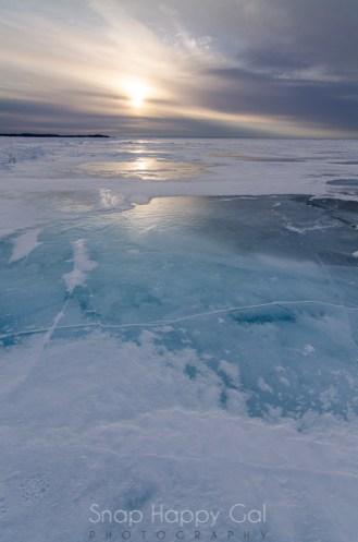 darkening ice