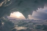 frozen wave sunset