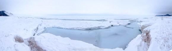 Lake Michigan Ice - panorama