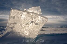 more backlit ice shards