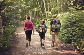 Manitou Island trail hiking