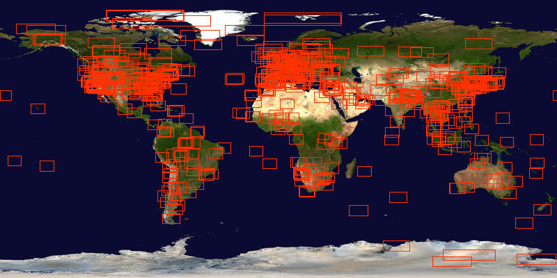 Subset maps: Global   North America   South America   Africa   Europe   Southeast Asia AERONET Subsets (click on the map)