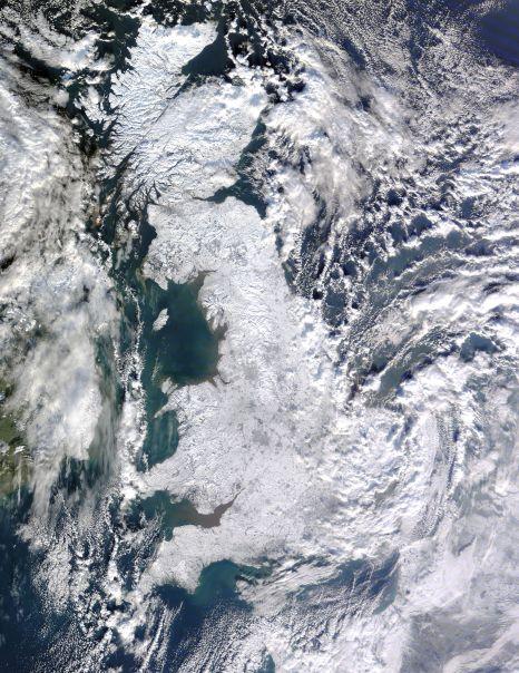 Snow across Great Britain