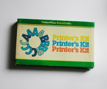 Fisher-Price released a movable type Printer's Kit
