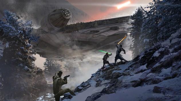 Climactic duel at Starkiller Base