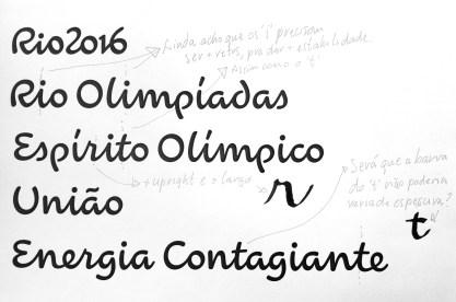 Rio 2016 font development