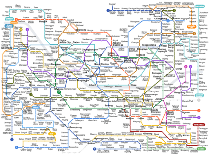 Seoul transit map