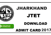 jharkhand tet admit card download