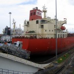 The Panamá Canal Locks: Gatun on the Caribbean side (with video of a slow moving boat)