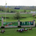 Keeneland, KY: day at the races, white tablecloth tailgating and cornhole