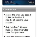 AirTran 32 Credit, 2 Upgrade Card Offer Still Exists