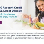 Amex Serve $50 Direct Deposit Offer Appears to Work for All
