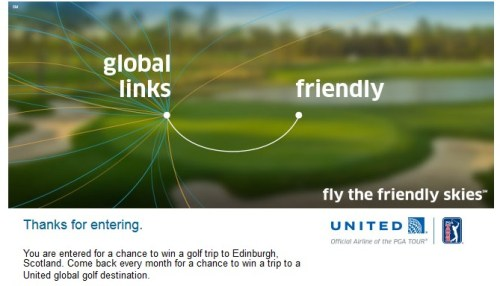 United Golf Thanks for Entering