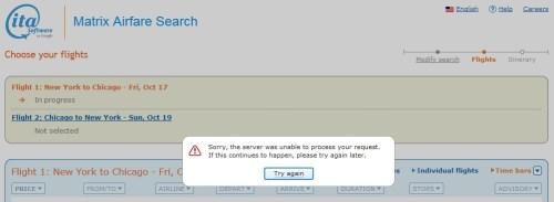 ITA Server Error