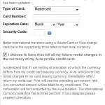 Avis Home Currency Conversion Scam Gets Aggressive in Europe