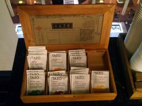 Hyatt Regency North Houston Tazo Tea